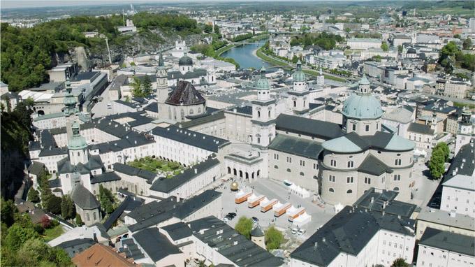 Mag. Johann Varga / Salzburg von der Festung gesehen / Zum Vergrößern auf das Bild klicken