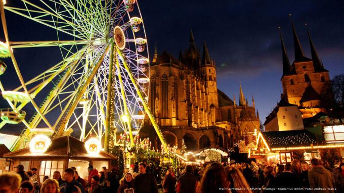 © Thüringer Tourismus GmbH / Foto: Andreas Weise / Erfurt, DE - Weihnachtsmarkt / Zum Vergrößern auf das Bild klicken