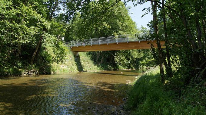 55PLUS Medien GmbH / Helenentalradweg - Brücke bei Schulz Heim / Zum Vergrößern auf das Bild klicken