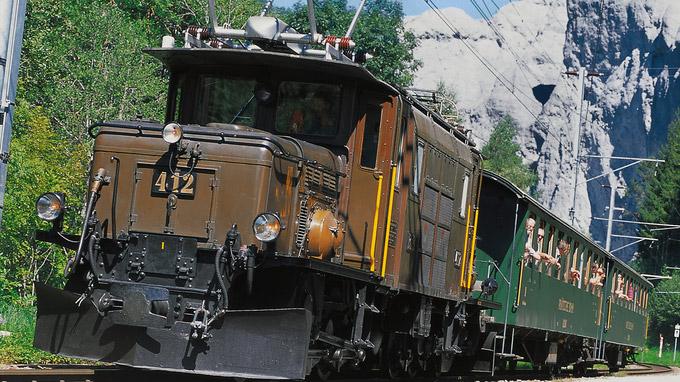 © Rhätische Bahn / Peter Donatsch / Krokodil-Eisenbahn, Schweiz / Zum Vergrößern auf das Bild klicken