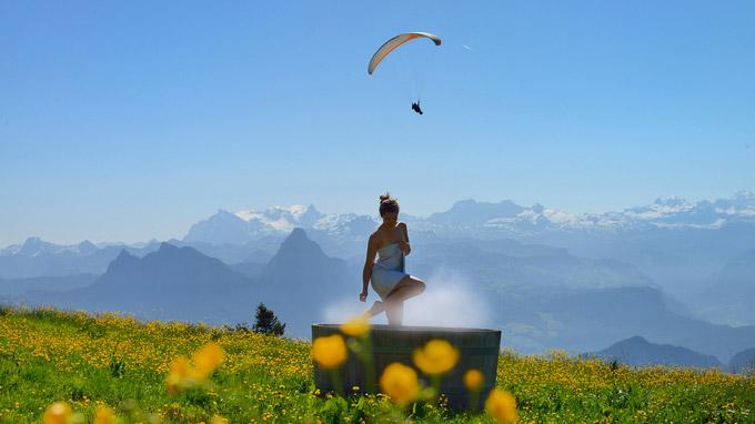 © Luzern Tourismus / Christian Perret / Rigi, Schweiz - Alpine Wellness / Zum Vergrößern auf das Bild klicken