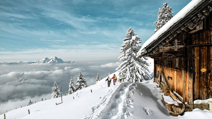 Schweiz Tourismus, swiss-image.ch/Beat Mueller / Rigi, Schweiz - Schneeschuhwanderung / Zum Vergrößern auf das Bild klicken