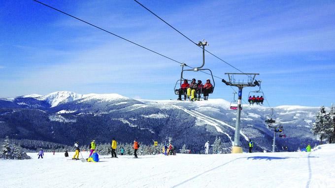 © CzechTourism / Skiareal Spindleruv mlyn, CZ / Zum Vergrößern auf das Bild klicken