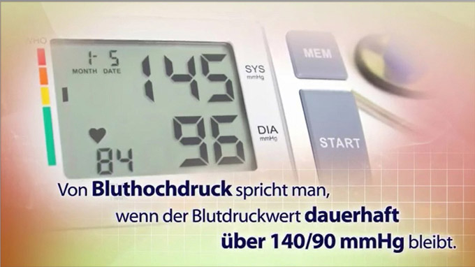 © TV-Wartezimmer.de / Bluthochdruck-Messung / Zum Vergrößern auf das Bild klicken