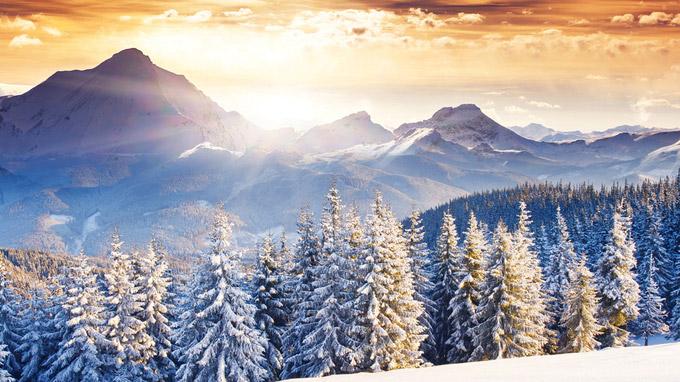 © K12 Designbüro / Winterwärme Landschaftsbild / Zum Vergrößern auf das Bild klicken