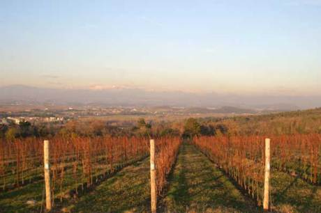 Castelvecchio - Blick in die friulanische Ebene