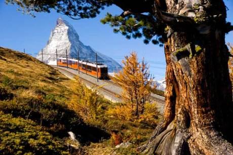Gornergrat Bahn in Zermatt, Schweiz