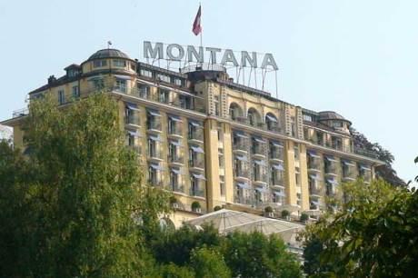 Art Deco Hotel Montana in Luzern, Schweiz