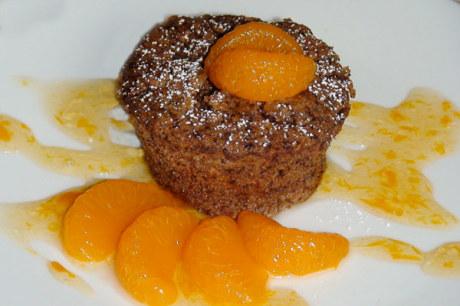 Lebkuchen-Soufflé mit Mandarinen