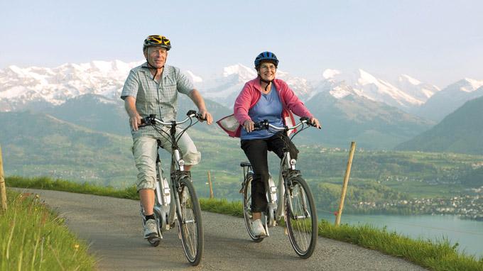 © Aktion Gesunder Rücken e.V. / Radfahrer / Zum Vergrößern auf das Bild klicken