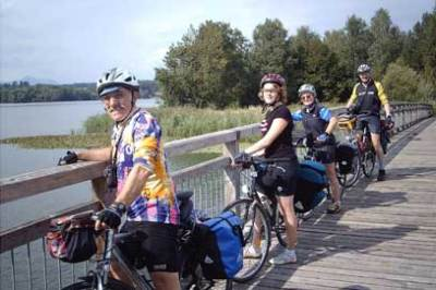 55PLUS: Waginger See, Radtour / Zum Vergrößern auf das Bild klicken
