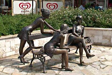 Miskolc, Ungarn - Skulptur auf der Szinva-Terrasse