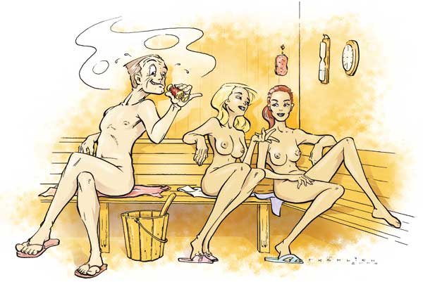 Illustration Sauna