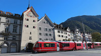 � Chur Tourismus / Arosabahn vor Obertor, Chur