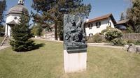 Mag. Johann Varga / Gruber-Mohr-Skulptur in Oberndorf / Zum Vergrößern auf das Bild klicken
