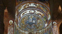 © Edith Spitzer, Wien / Vall de Boi, Spanien - Santa Maria and Sant Climent de Tauell_Wandgemälde / Zum Vergrößern auf das Bild klicken