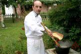Zubereitung der Polenta / Zum Vergrößern auf das Bild klicken