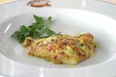 Crespelle mit Zucchine und Speck / Zum Vergrößern auf das Bild klicken