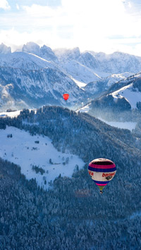 © Flora Jädicke, Regensburg / Kössen, Tirol - Ballon Alpengipfel / Zum Vergrößern auf das Bild klicken
