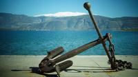 © Dr. Charles E. Ritterband / Griechenland - Blick von Galaxidi auf den verschneiten Parnass / Zum Vergrößern auf das Bild klicken