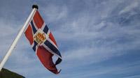© Anita Arneitz, Klagenfurt / Geiranger-Fjord in Norwegen - Flagge / Zum Vergrößern auf das Bild klicken