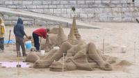 © Edith Köchl, Wien / Cascais, Portugal - Sand-Skulpturen / Zum Vergrößern auf das Bild klicken