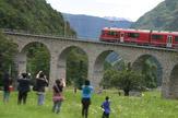 Foto © 55PLUS Medien GmbH, Wien / Bernina Express, Schweiz - Kreisviadukt Brusio