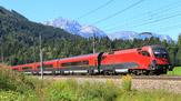 © ÖBB, Christian Auerweck / Railjet bei Werfen, Österreich / Zum Vergrößern auf das Bild klicken