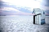 Am Strand von Travemünde, Deutschland / Zum Vergrößern auf das Bild klicken