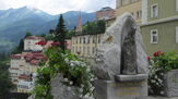 Bad Gastein mit Mutter Gottes-Statue