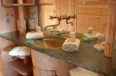 Hotel Lüsnerhof, Südtirol - Badezimmer vom Badehaus / Zum Vergrößern auf das Bild klicken