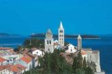 Blick auf Rab, Kroatien / Zum Vergrößern auf das Bild klicken