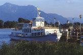 Chiemsee, Bayern - Dampfer in Gstadt / Zum Vergrößern auf das Bild klicken
