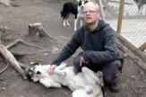 Jokkmokk, Schweden - Huskyfarm / Zum Vergrößern auf das Bild klicken