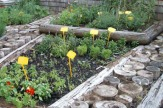 Kräutergarten / Zum Vergrößern auf das Bild klicken