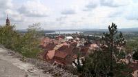 55PLUS Medien GmbH / Blick von der Burg auf Ptuj und den Draustausee, Slowenien / Zum Vergrößern auf das Bild klicken
