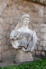 Bad Piestany, Slowakei - Statue der Kaiserin Sisi / Zum Vergrößern auf das Bild klicken