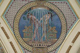 Budapest - Széchenyi-Bad, Mosaik im Haupteingangsbereich / Zum Vergrößern auf das Bild klicken