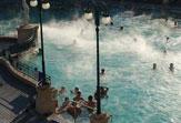 Budapest - Széchenyi-Bad, Schachspieler im Thermalbad / Zum Vergrößern auf das Bild klicken