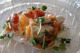 Hotel Reiter`s Supreme, Bad Tatzmannsdorf: Vorspeise Fischsulze / Zum Vergrößern auf das Bild klicken