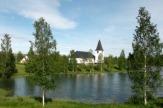 Vuollerim, Schweden - Kirche / Zum Vergrößern auf das Bild klicken