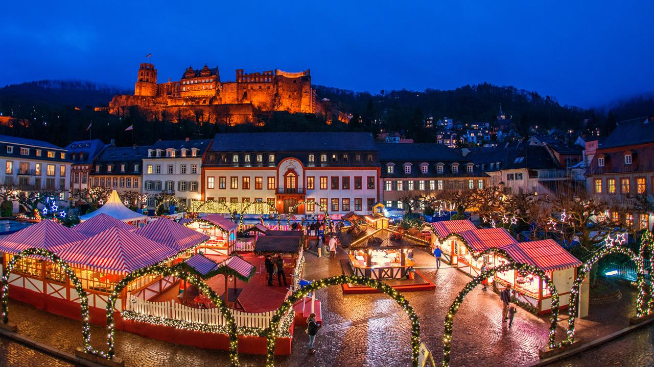 Heidelberg Weihnachtsmarkt.Zauberhafter Advent In Heidelberg