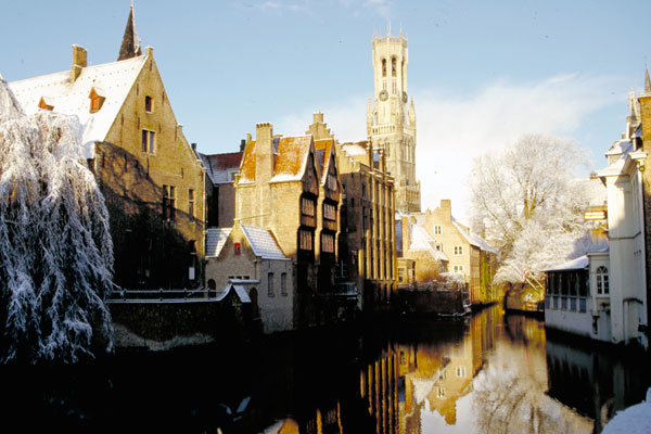 Brügge im Winter, Flandern