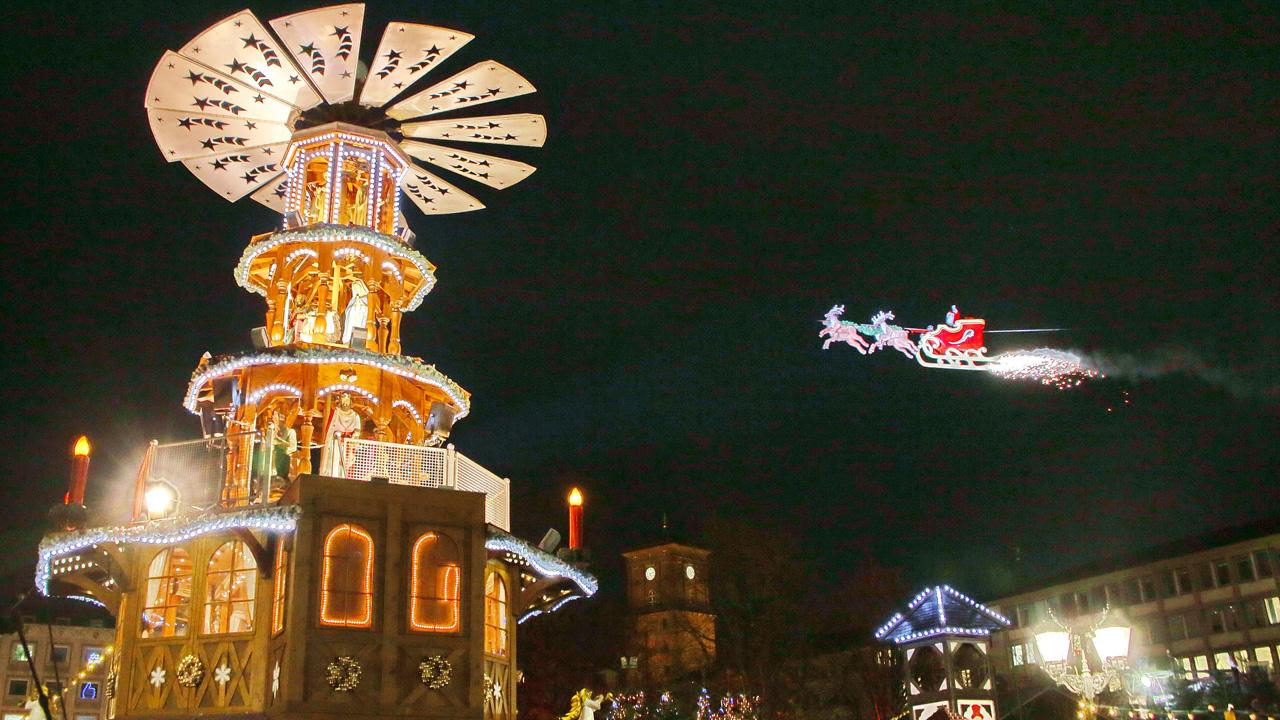 Karlsruhe Weihnachtsmarkt.Adventszeit In Karlsruhe