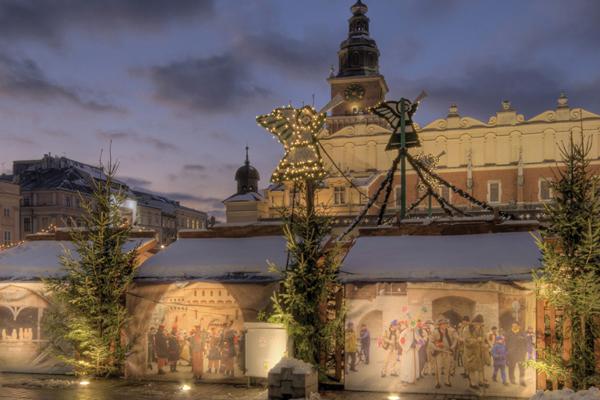 Krakau, Polen - Weihnachtsmarkt