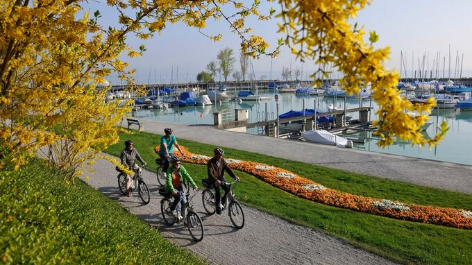 © Thurgau Tourismus / Bodensee - Romanshorn Hafen / Zum Vergrößern auf das Bild klicken
