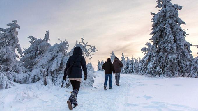 © Tourismusverband Erzgebirge e.V. / Bernd März / Erzgebirge, DE - Winterwandern / Zum Vergrößern auf das Bild klicken