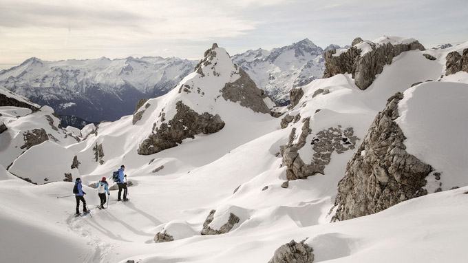 © Daniele Lira / Trentino, Italien - Madonna di Campiglio Dolomiti di Brenta_Ciaspole / Zum Vergrößern auf das Bild klicken