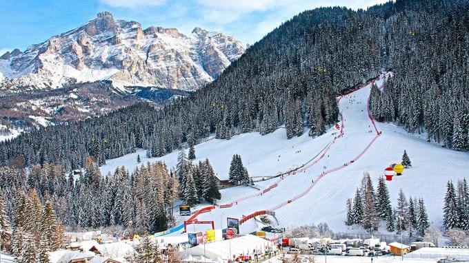 © Freddy Planinschek / Alta Badia, Südtirol - Skiworldcup / Zum Vergrößern auf das Bild klicken