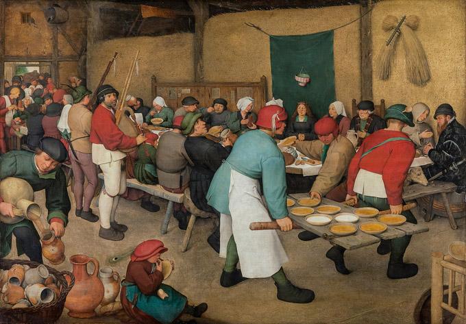 © KHM-Museumsverband / KHM Wien - Ausstellung Bruegel_Bauernhochzeit / Zum Vergrößern auf das Bild klicken